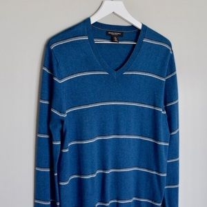 Men's BR Silk Cotton Cashmere Luxe V-Neck Sweater
